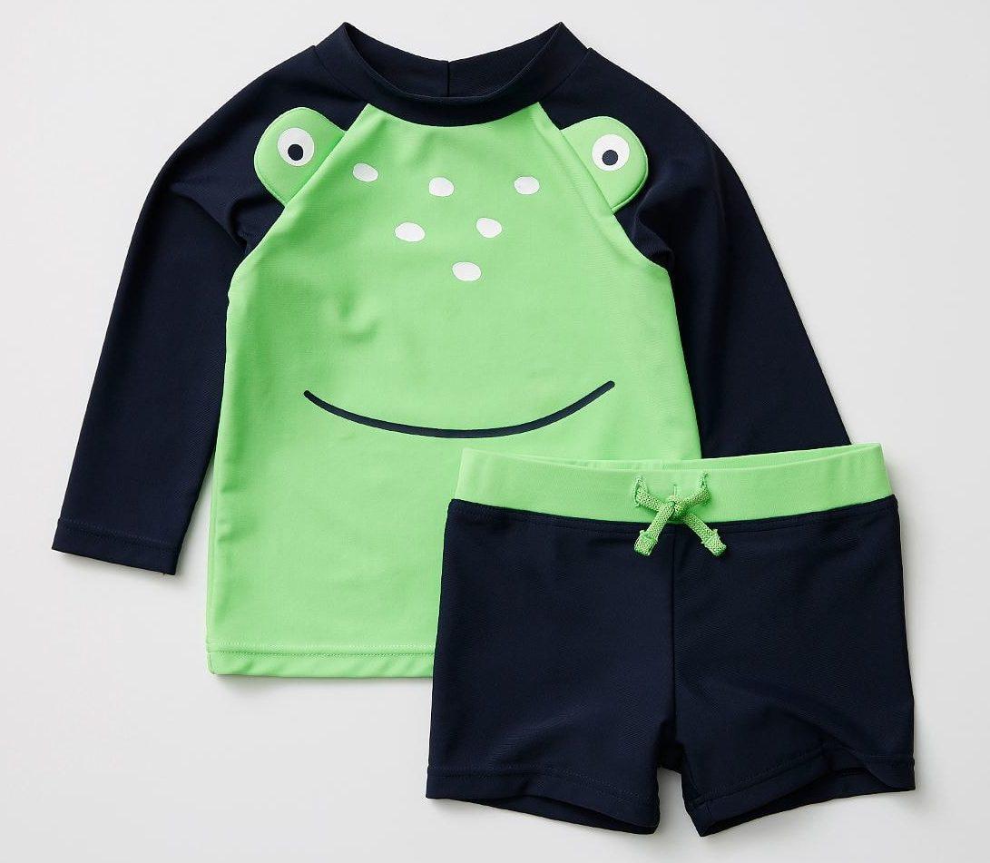 Target Baby Frog Rash Vest Set