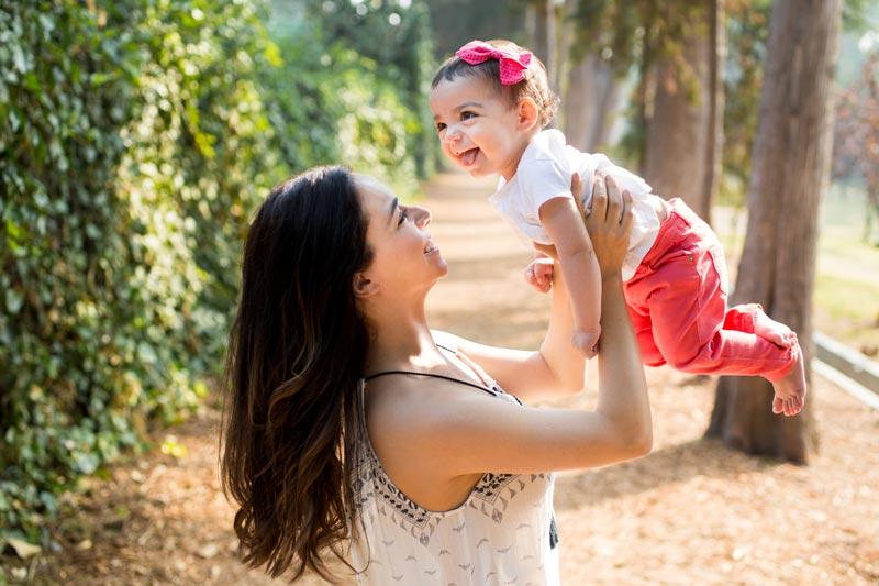 Hispanic mother and baby