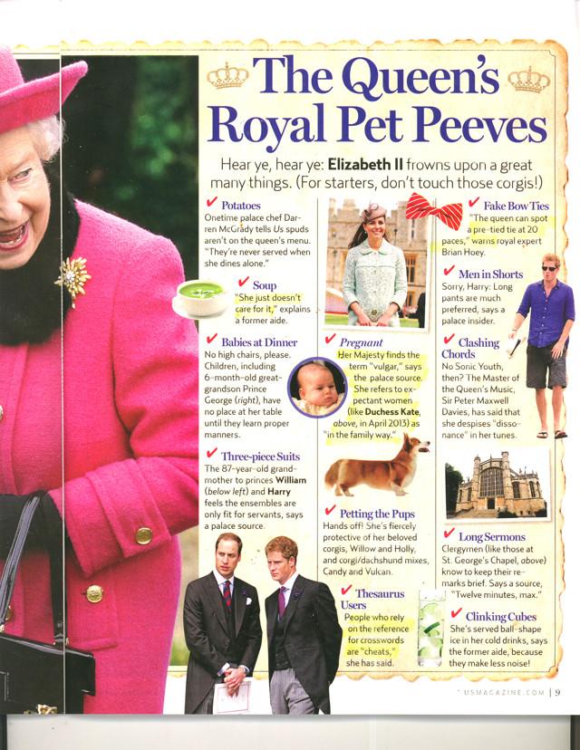 The Queen's Pet Peeves