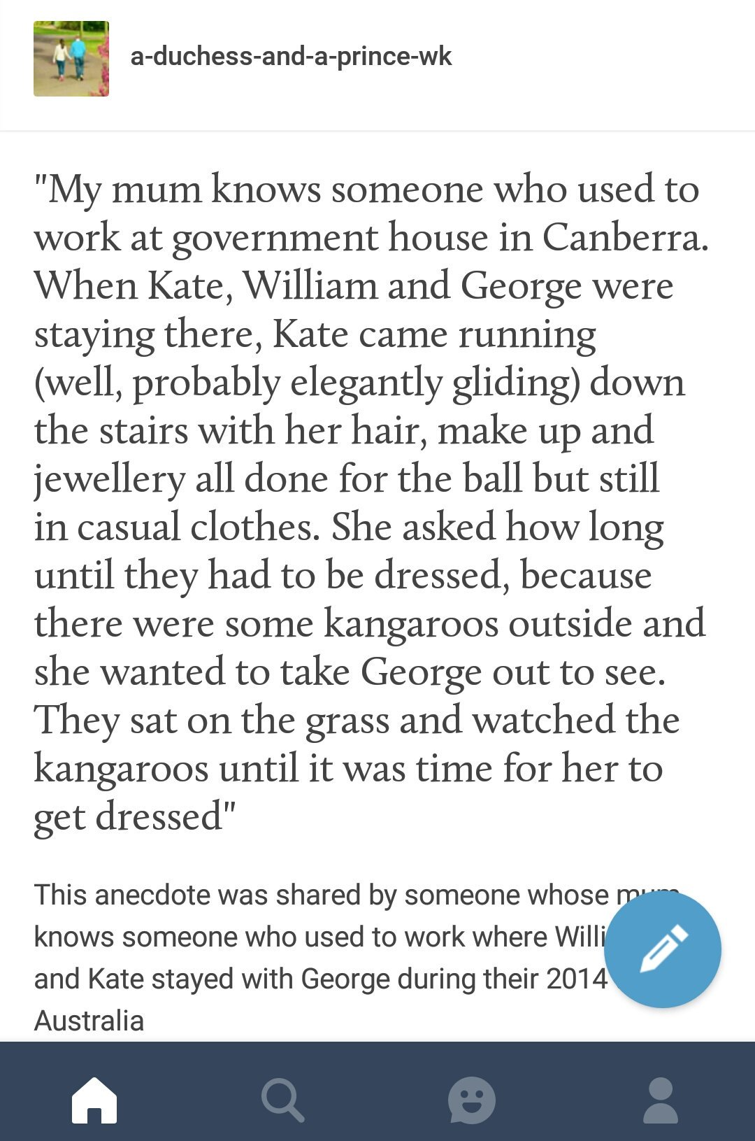 Kate and George tweet