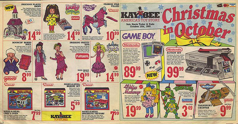 Retro toy catalogue