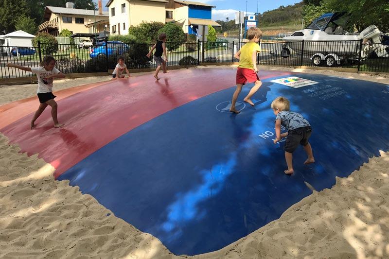 Caravan park bubble trampoline