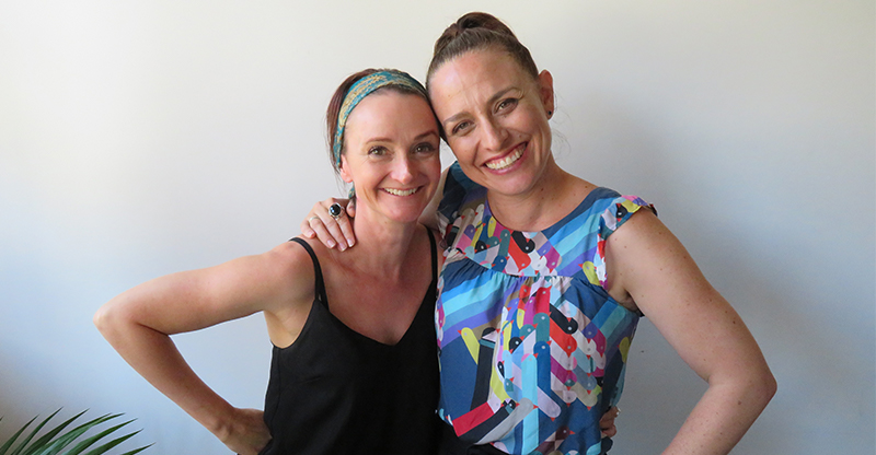 Mindfulness coach and Happy Mama founder Amy Taylor-Kabbaz with Feed Play Love host Shevonne HUnt