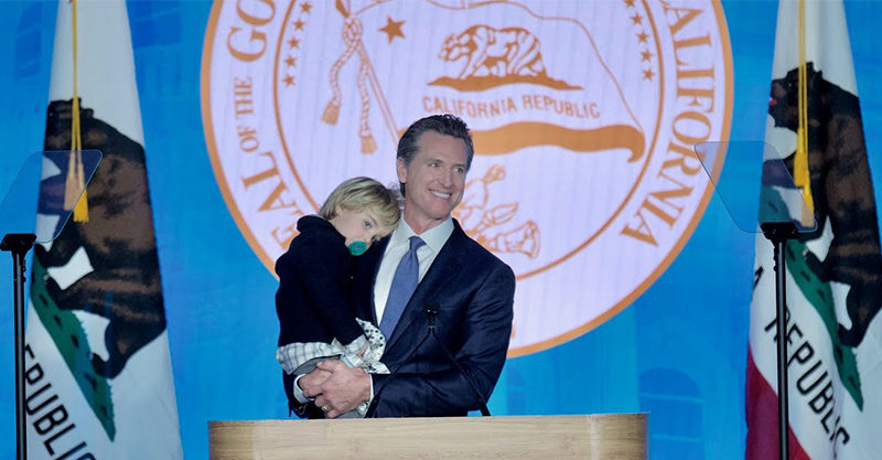 Governor Gavin Newsom and toddler son Dutch