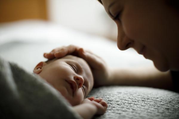 Mum and newborn
