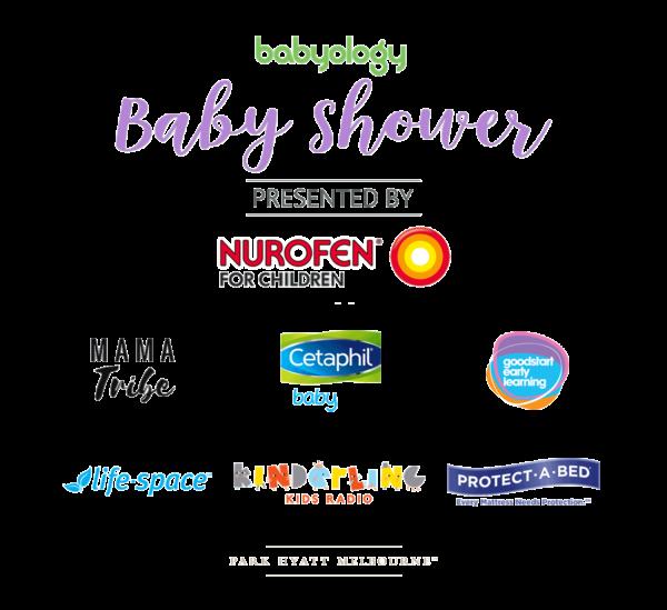 Melbourne baby shower sponsor logo board