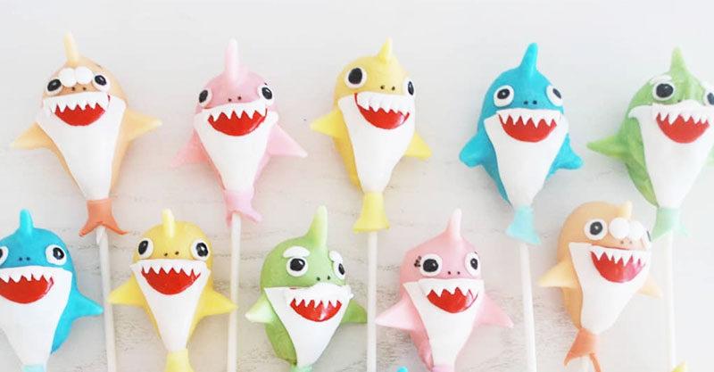 Baby Shark Cake Pops