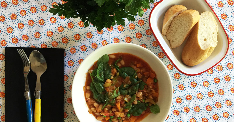 Slow-cooked white bean and vegetable casserole recipe