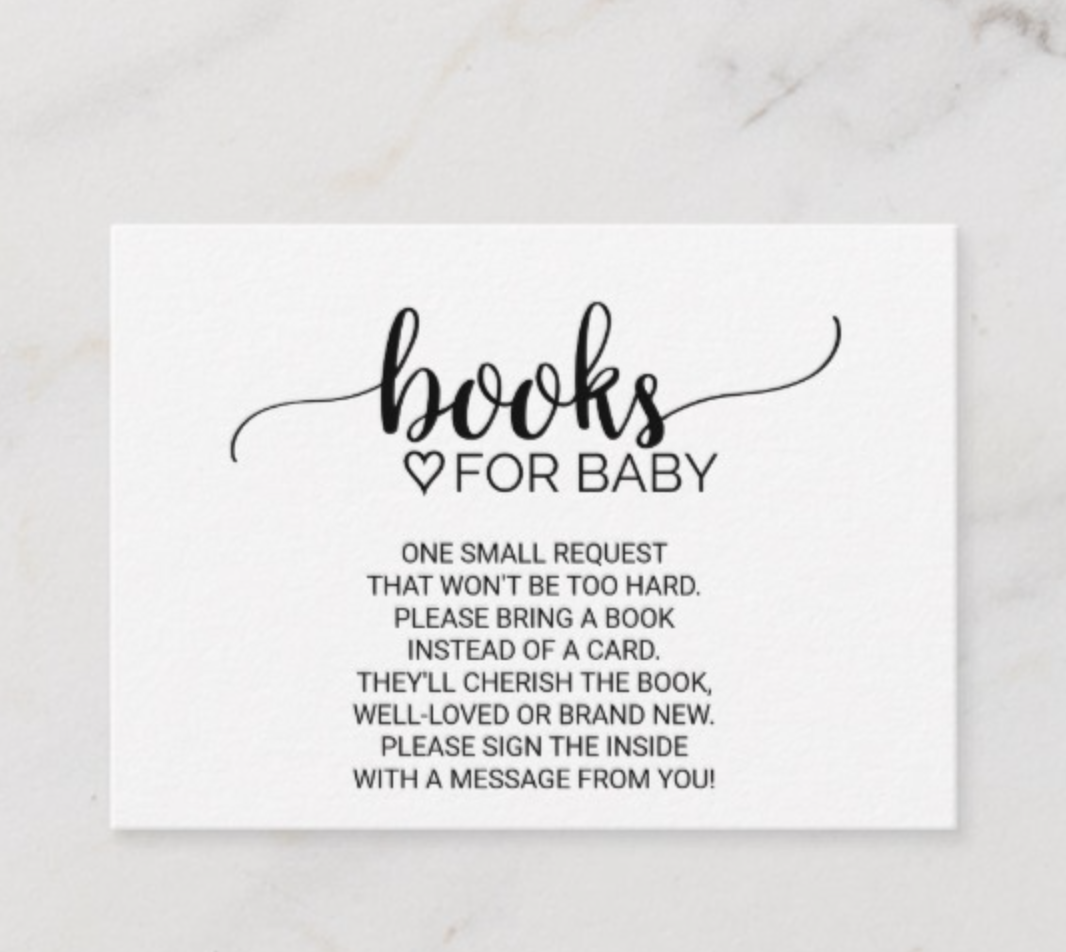 Books for baby invitation