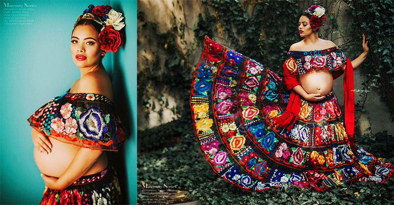 9aa5a887a75c8 This dreamy Mexican-themed maternity shoot is like nothing we've ever seen