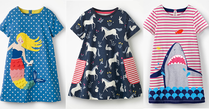 40deb21931bb These colourful girls' frocks from Boden are the cutest to layer for Winter