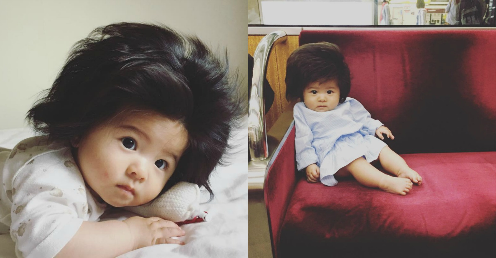 This babys hair is so awesome it has its own instagram account
