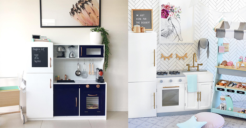 These clever parents are hacking the Kmart kids' wooden kitchens