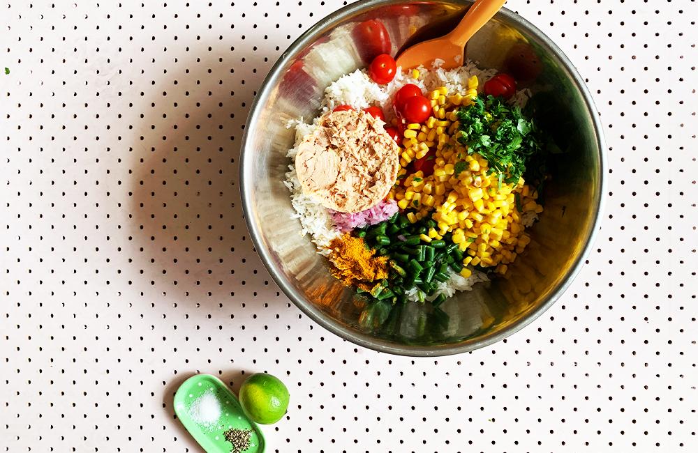 Speedy and easy tuna and rice salad recipe