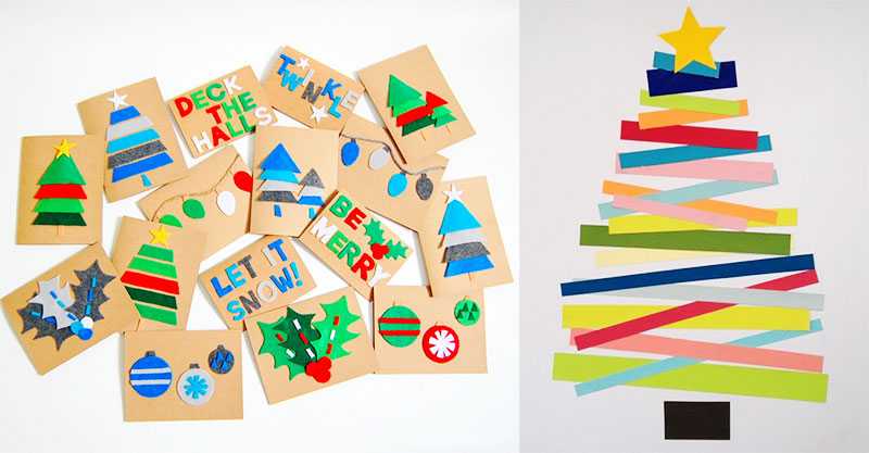 Easy Christmas Cards Designs.10 Easy Christmas Cards You Can Make With Your Kids