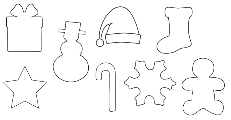Christmas Shapes.Christmas Shapes Perfect For Christmas Cards Decorations
